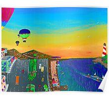 Balloons Over Vera Cruz Poster