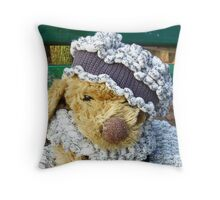 Puppy In A Shawl: Look Throw Pillow