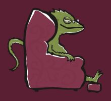 the comfy bearded dragon by greendeer