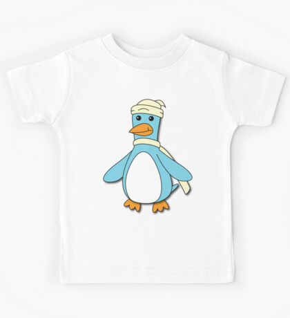 Light Blue & Creme Penguin Kids Tee