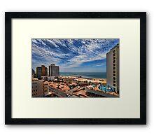 Tel Aviv summer time Framed Print
