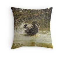 No Rubber Ducky but oh bath time is so much fun Throw Pillow