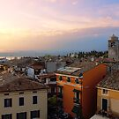 View of Sirmione with Lake Garda by kirilart