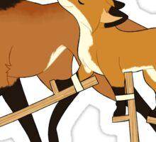 Stilts Fox Sticker