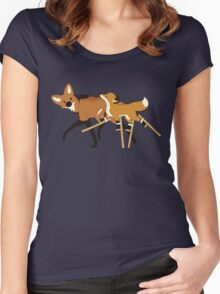Stilts Fox Women's Fitted Scoop T-Shirt