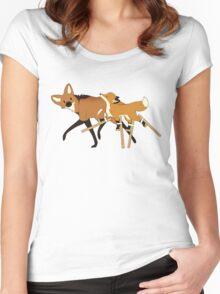 Stilts Fox Women's Fitted Scoop T-Shirt