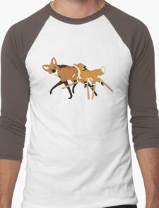 Stilts Fox Men's Baseball ¾ T-Shirt