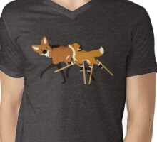 Stilts Fox Mens V-Neck T-Shirt