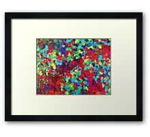 POND IN PIGMENT Bright Bold Neon Abstract Acylic Floral Aquatic Painting Framed Print
