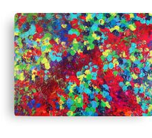 POND IN PIGMENT Bright Bold Neon Abstract Acylic Floral Aquatic Painting Canvas Print