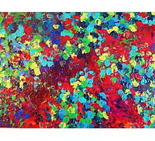 POND IN PIGMENT Bright Bold Neon Abstract Acylic Floral Aquatic Painting Photographic Print