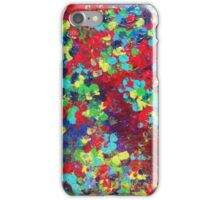 POND IN PIGMENT Bright Bold Neon Abstract Acylic Floral Aquatic Painting iPhone Case/Skin