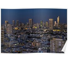 Tel Aviv at the twilight magic hour Poster