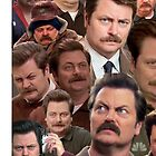 Ron Swanson Tile by oison75