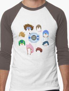 Minimalist Digivice and Digidestined (Digimon Adventure) Men's Baseball ¾ T-Shirt