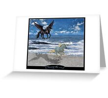 Chasing the wind Greeting Card