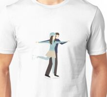 couple on the skating rink Unisex T-Shirt