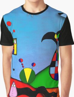 My Homage To Miro - The Raven King and I Graphic T-Shirt