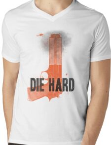 Die Hard Mens V-Neck T-Shirt