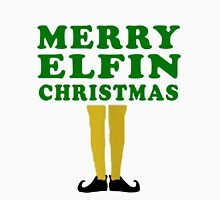 MERRY ELFIN CHRISTMAS Men's Baseball ¾ T-Shirt