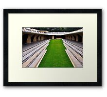 Frank Lloyd Wright Designed Courtyard, Florida Southern College, Lakeland, Florida Framed Print