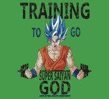 Training to go super saiyan god (vintage) Kids Clothes