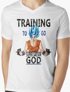 Training to go super saiyan god (vintage) Mens V-Neck T-Shirt