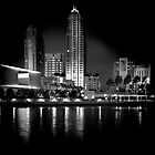 Tampa Night BnW by james smith