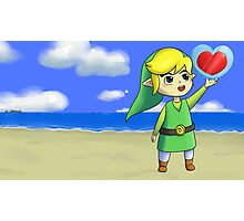 Toon Link with background Photographic Print