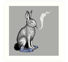 Carrot Smoke Trick Art Print