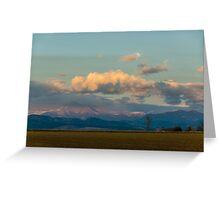 Moonship Sunset Greeting Card