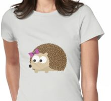 Cute Girl Hedgehog Womens Fitted T-Shirt