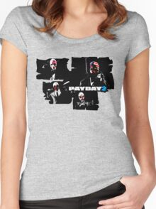 Payday 2 Women's Fitted Scoop T-Shirt