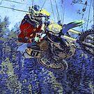 Motocross Dirt-Bike Championship Race by NaturePrints