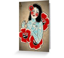 lady luck print Greeting Card