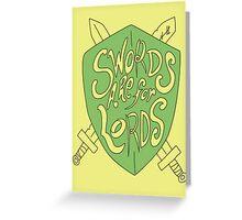 Swords Greeting Card