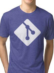 Git - White logo Tri-blend T-Shirt