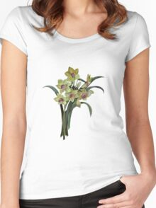 Lent Lily Isolated Women's Fitted Scoop T-Shirt
