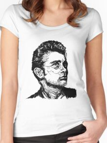 Icon: James Dean Women's Fitted Scoop T-Shirt