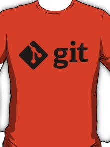 Git - Black logo T-Shirt