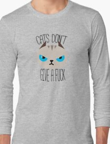 Grumpy cats don't give a. Long Sleeve T-Shirt