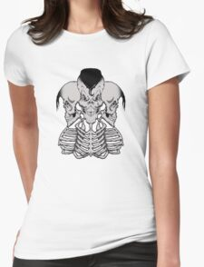 Psycho trio Womens Fitted T-Shirt