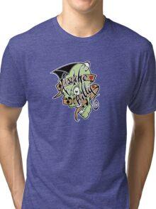 Psychobilly scolled Tri-blend T-Shirt