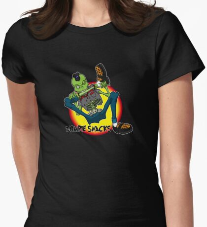 zombie snack Womens Fitted T-Shirt