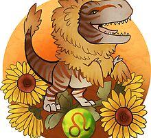 Leo Dinosaur Zodiac by barbalarga