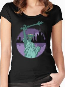 Defender of Liberty Women's Fitted Scoop T-Shirt