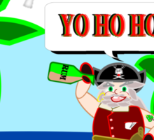 Pirate Santa says Yo Ho Ho - Muriel Cameo Sticker