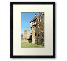 Stokesay Castle and Church Framed Print