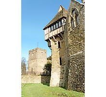 Stokesay Castle and Church Photographic Print