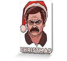 Ron Swanson Christmas Greeting Card
